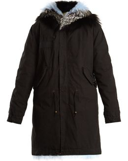 Fur-lined Hooded Canvas Parka