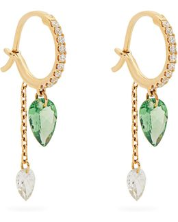 Set Free Diamond, Tsavorite & Yellow-gold Earrings