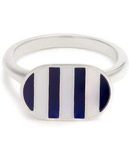 Enamel & Sterling-silver Ring