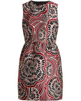 Bambolina Floral-jacquard Mini Dress