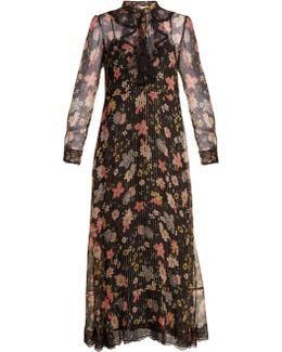 Floral-print Silk-chiffon Dress