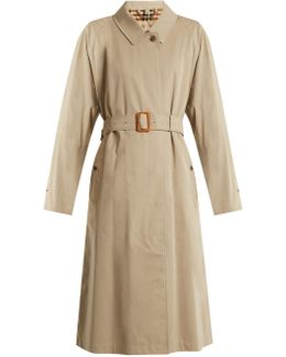 Brighton Long Cotton-gabardine Trench Coat