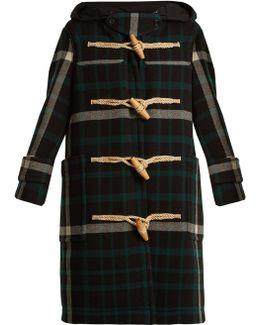 Salhouse Hooded Tartan Wool Coat
