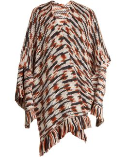 Fringed Wool And Alpaca-blend Wrap