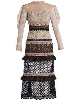 Bellis Lace Contrast-panel Dress