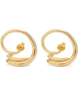 Round Trip Gold-plated Earrings