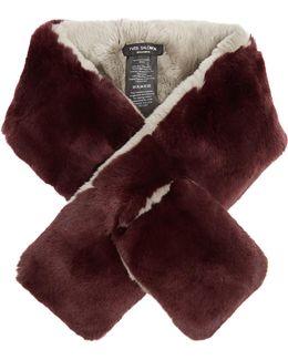 Bi-colour Rabbit-fur Scarf