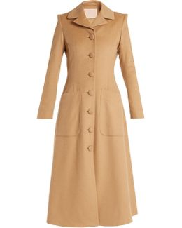 Connie Single-breasted Camel-hair Coat