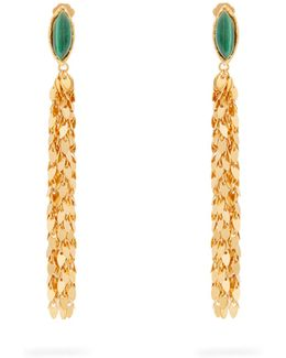Leaves Gold-plated Clip-on Earrings