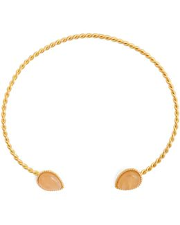 Quartz And Gold-plated Necklace