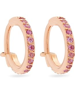 Sapphire & Pink-gold Earrings