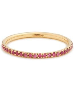 Sapphire & Pink-gold Ring