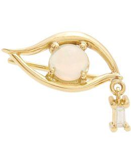 Diamond, Opal & Yellow-gold Earring