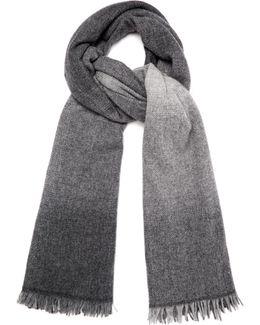 Dégradé Wool And Cashmere Scarf