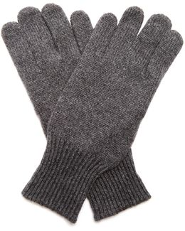 Cashmere And Suede Gloves