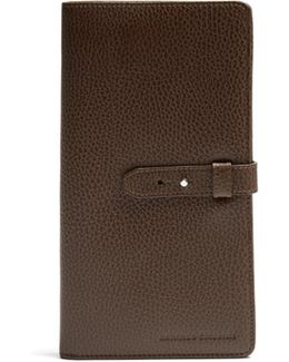 Grained-leather Travel Wallet
