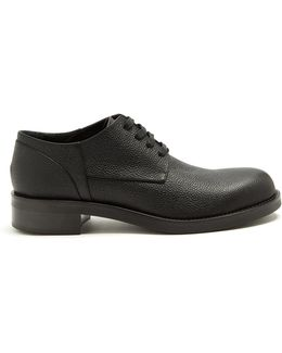Grained-leather Derby Shoes