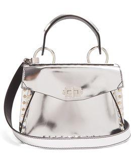 Hava Small Stud-embellished Leather Cross-body Bag