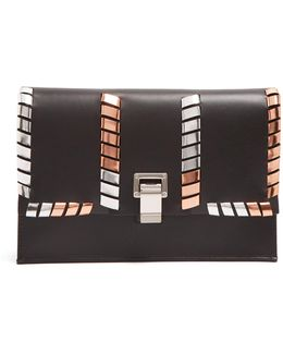 Lunch Bag Leather Clutch