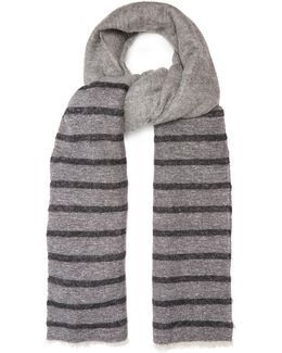 Striped Woven Scarf