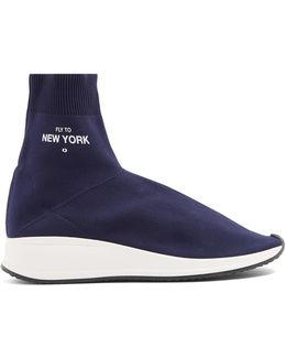 New York High-top Sock Trainers