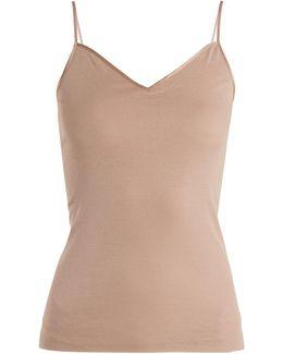 Seamless V-neck Cotton Cami Top