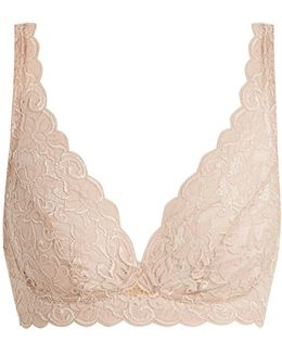 Moments Soft-cup Floral-lace Bra