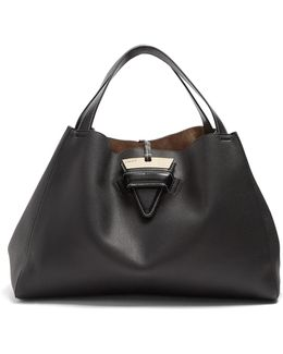 Barcelona Grained-leather Tote