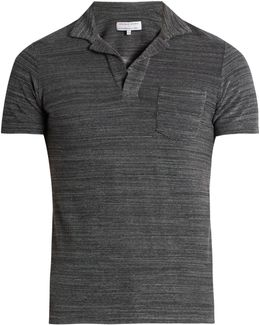 Cotton Terry-towelling Polo Shirt
