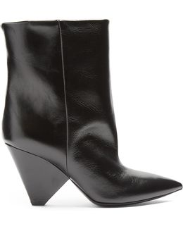 Niki Leather Ankle Boots