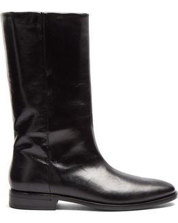 Matt Leather Boots