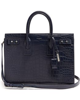 Sac De Jour Medium Crocodile-effect Leather Tote