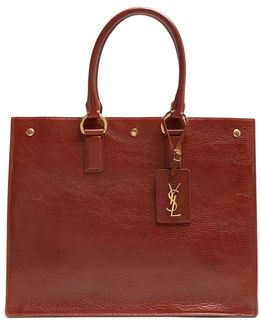Noe East West Grained-leather Tote