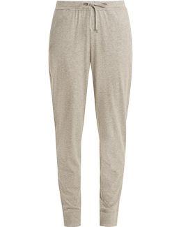 Drawstring-waist Cotton-jersey Pyjama Trousers