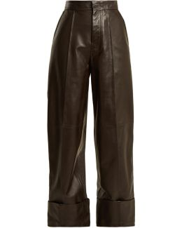 High-rise Leather Trousers