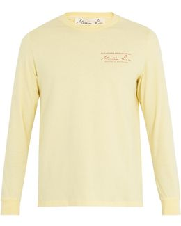 Logo-print Long-sleeved Cotton T-shirt