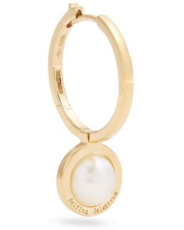 Pearl & Yellow-gold Hoop Earring