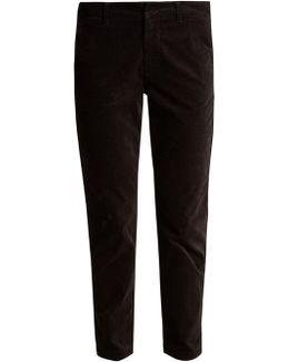 Slim-leg Corduroy Chino Trousers