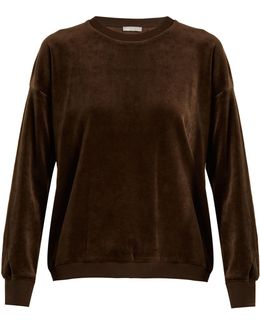 Round-neck Cotton-velour Sweatshirt