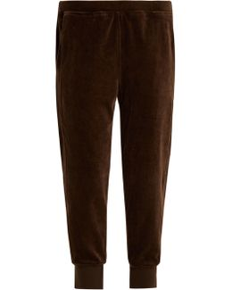 Tapered-leg Cotton-velour Track Pants