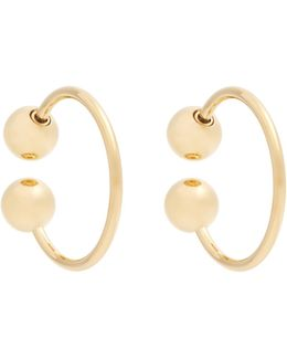 Sphere-end Hoop Earrings