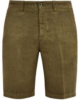 Straight-leg Linen Shorts