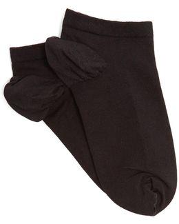 Cotton-blend Trainer Socks