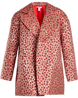 Poppy-jacquard Coat