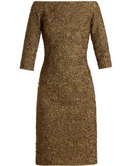 Off-the-shoulder Cloqué Dress