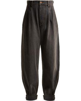 Netery Oversized Wide-leg Cotton Jeans