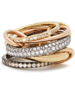 Leo Diamond, Silver, Yellow & Rose-gold Ring