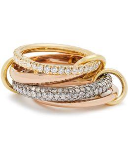 Vega Diamond, Silver, Yellow & Rose-gold Ring