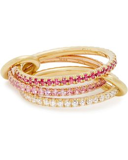Aurora Diamond, Sapphire, Ruby & Gold Ring