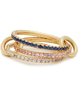 Aurora Sapphire, Tanzanite & Yellow-gold Ring